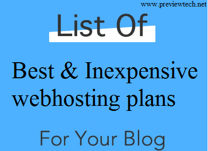 Cheap web hosting plans website blog