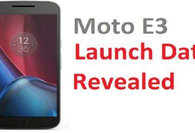 Moto E3 India