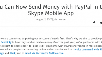 paypal skype p2p payments