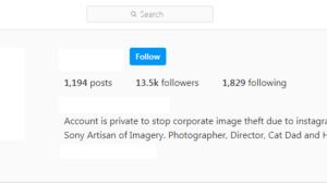 Rubenstein Instagram private account