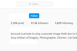 Rubenstein Instagram private account
